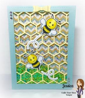 bee shaker card